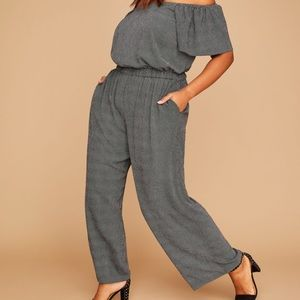 Polka Dot Off-the-Shoulder Jumpsuit
